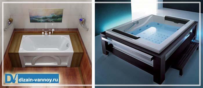 акриловые ванны размеры