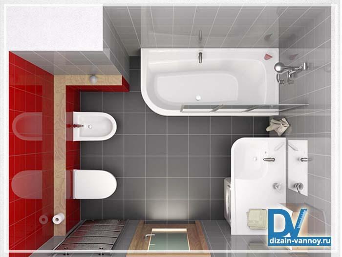 размер ванной комнаты оптимальный
