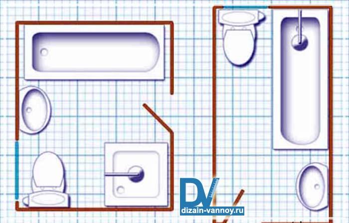 стандартные размеры ванной комнаты