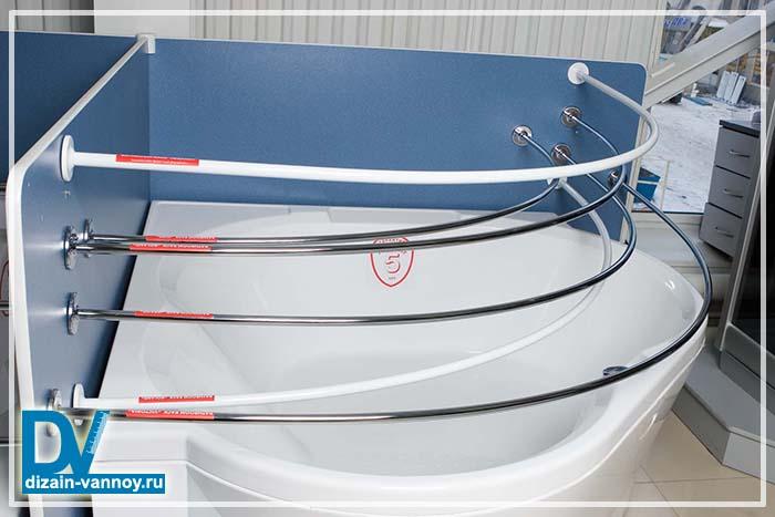 держатель для шторы в ванной