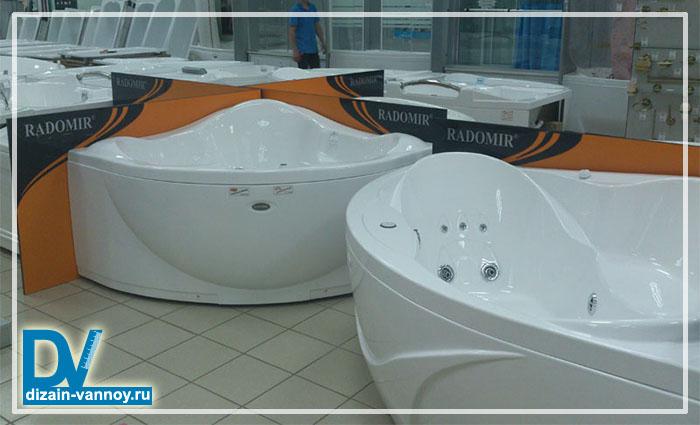 выбор ванны с гидромассажем