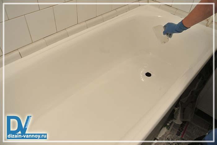 покрыть ванну акрилом