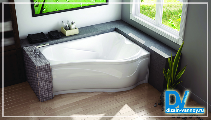 размеры акриловых прямоугольных ванн
