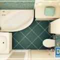 расстановка мебели в ванной комнате