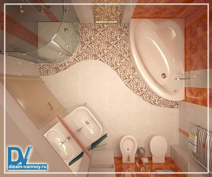 Пятиугольная ванная комната дизайн