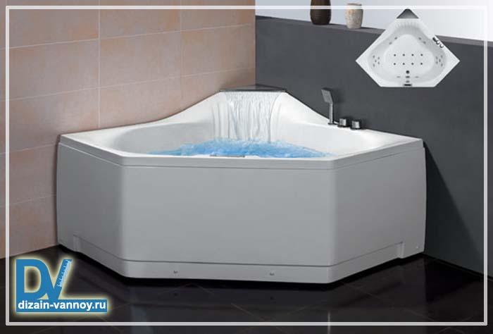 металлические угловые ванны