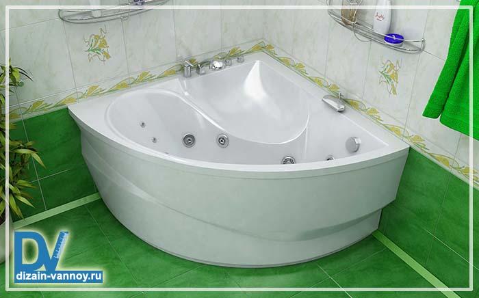 высота акриловой ванны