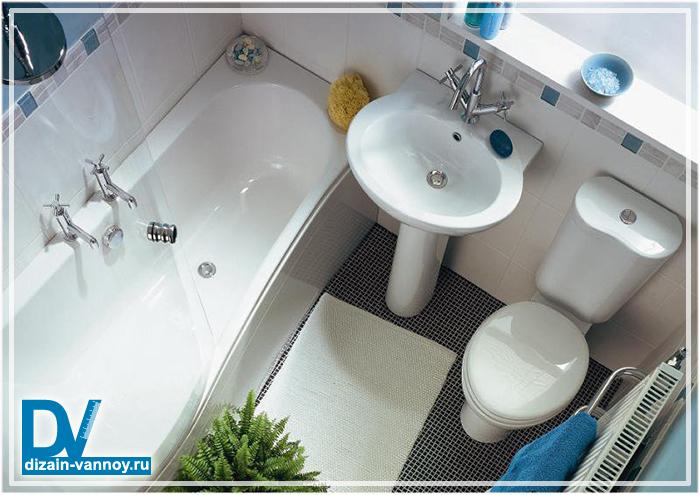 интерьеры маленькой ванной комнаты