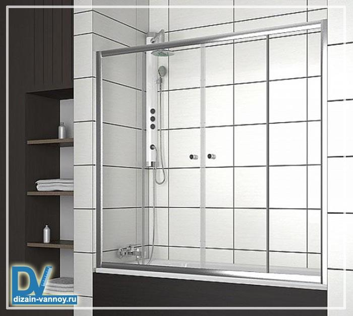 двери на ванну вместо шторы