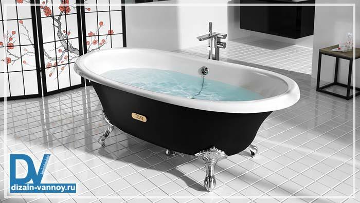 глубина чугунной ванны