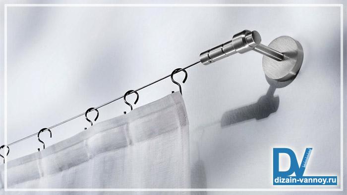 крепеж для шторки в ванную