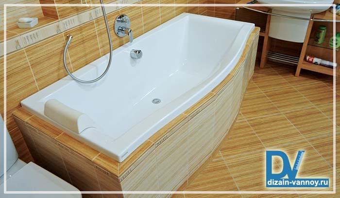 объем чугунной ванны в литрах