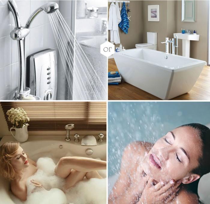 что лучше ванна или душ