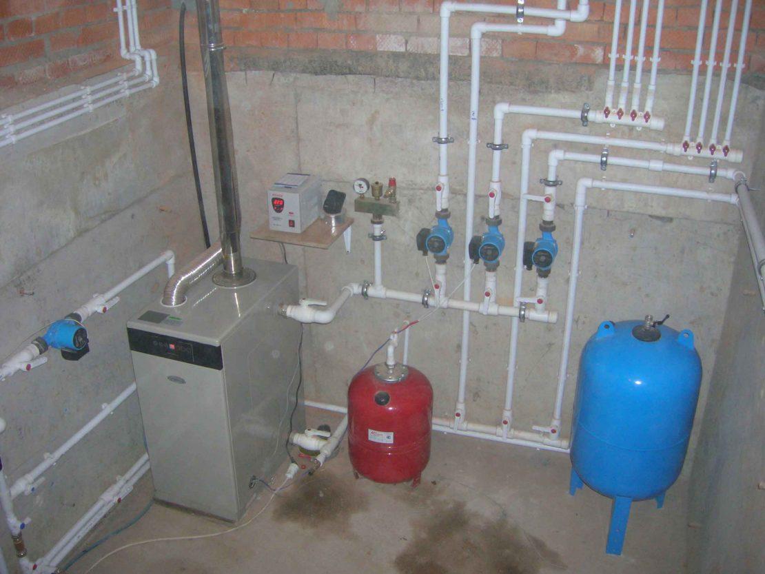 монтаж системы индивидуального отопления