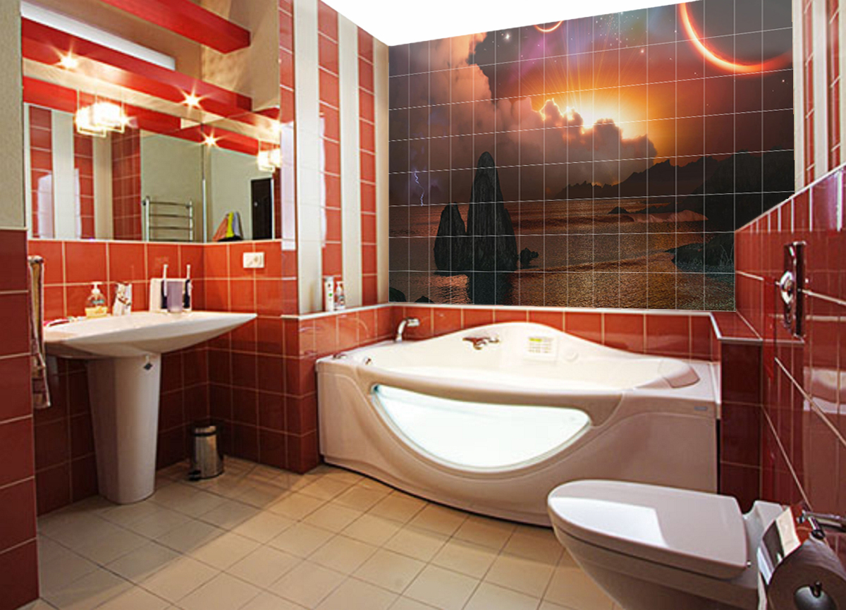 дизайн ванной комнаты кафель фото
