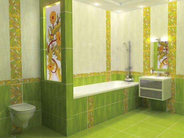 замена плитки в ванной комнате