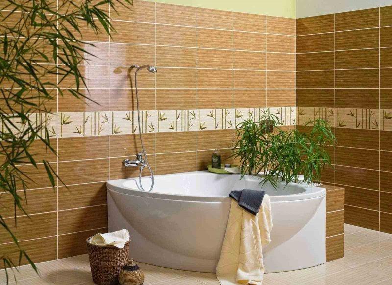 дизайн кладки плитки в ванной