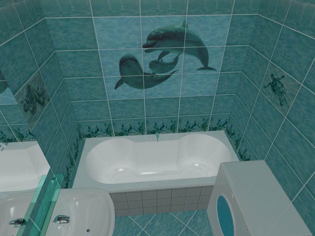 плитка для ванной водопад