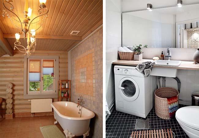 элементы интерьера ванной в скандинавском стиле