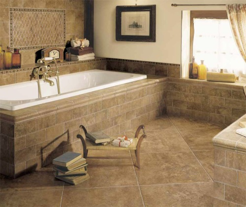 варианты кладки плитки в ванной