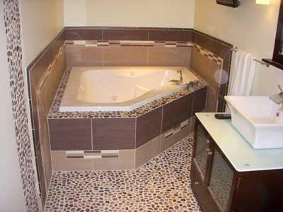 плитка под гальку для ванной