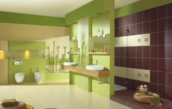 кафель в ванную с рисунком