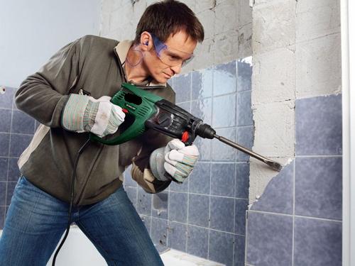 ремонт плитки в ванной