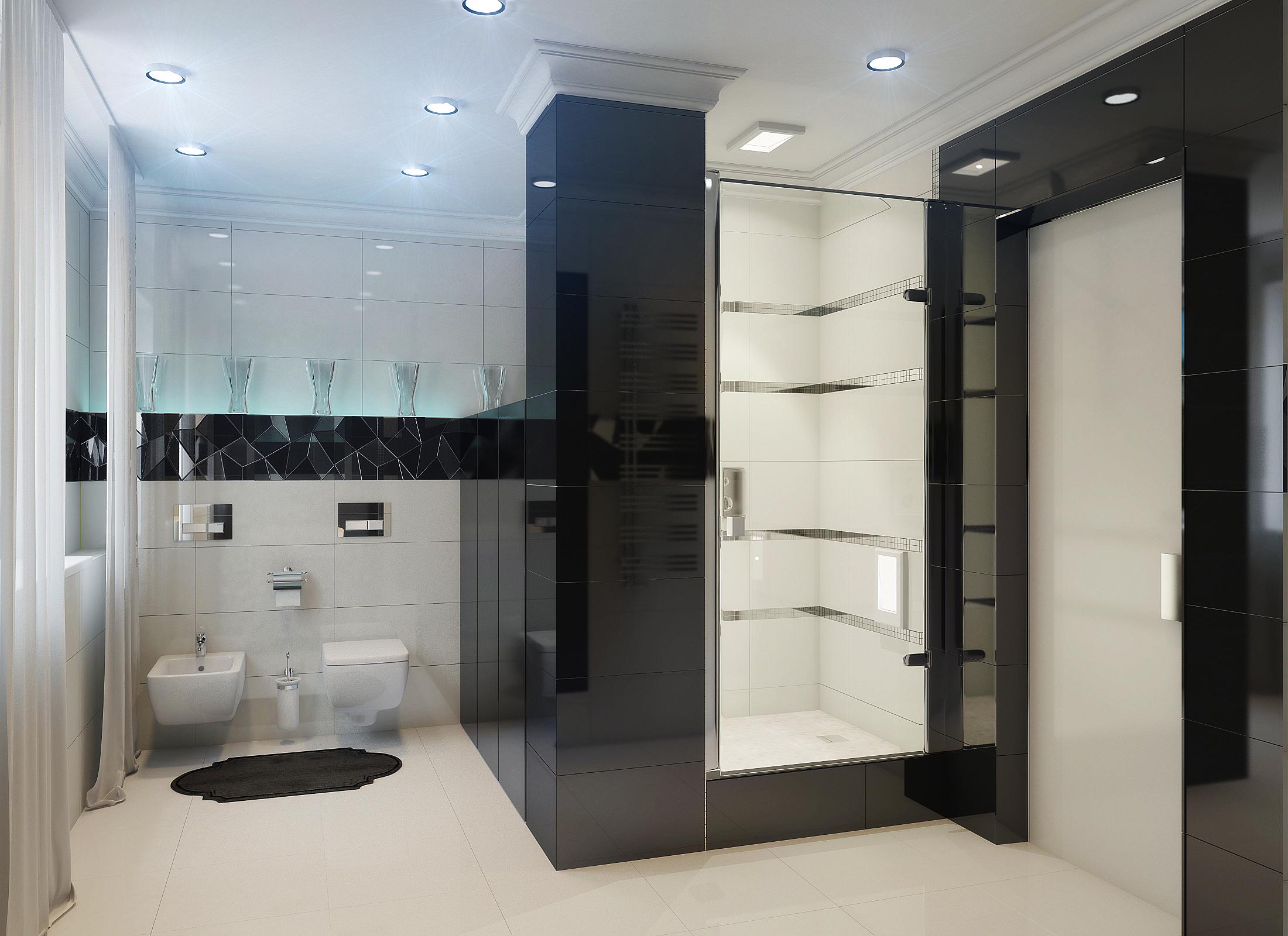 ванная комната хай-тек фото