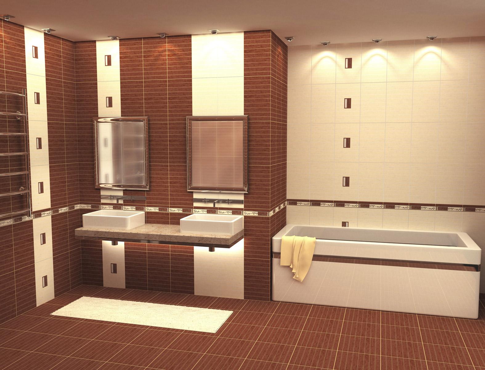 плитка кирпичиком для ванной