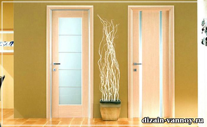 двери для ванной комнаты пвх