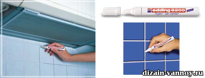 замазка швов плитки в ванной
