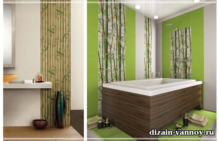 плитка бамбук для ванной