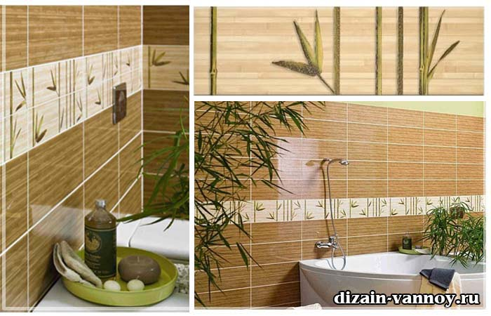 плитка для ванной комнаты бамбук