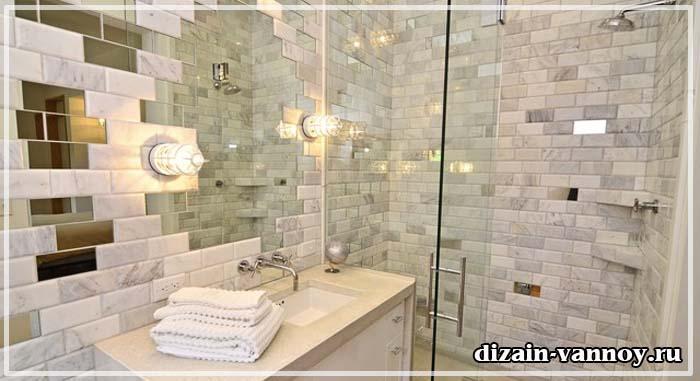 зеркальная плитка в ванной фото
