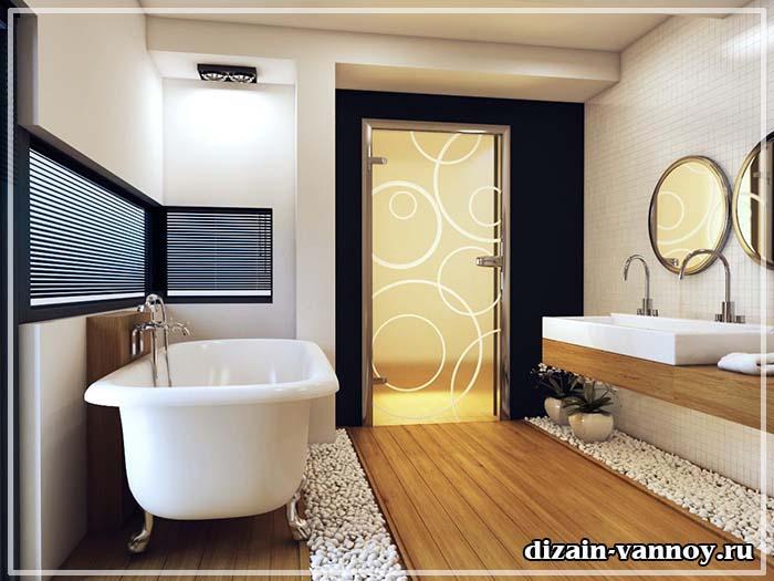двери стеклянные в ванную