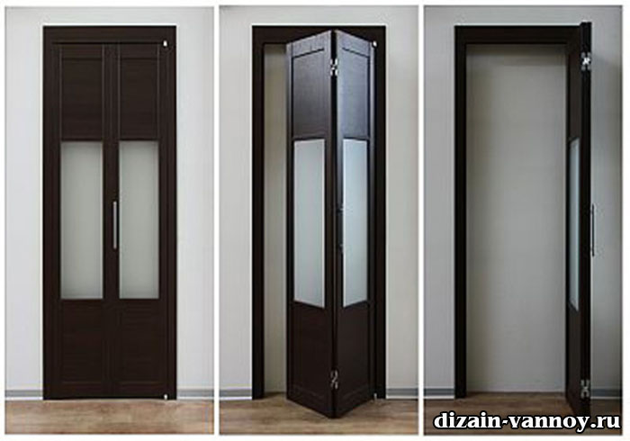 двери из стекла для ванной