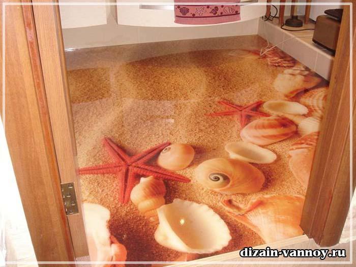 зд полы фото в ванной