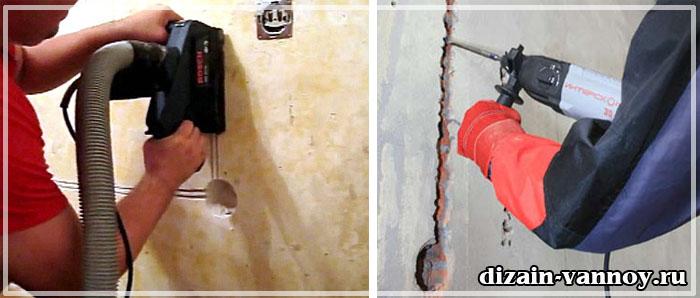 проводка в ванной