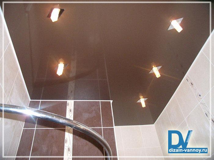 устройство потолка в ванной комнате