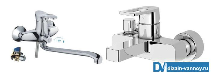 смеситель для ванны однорычажный