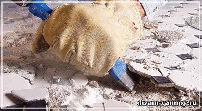 ремонт под ванной