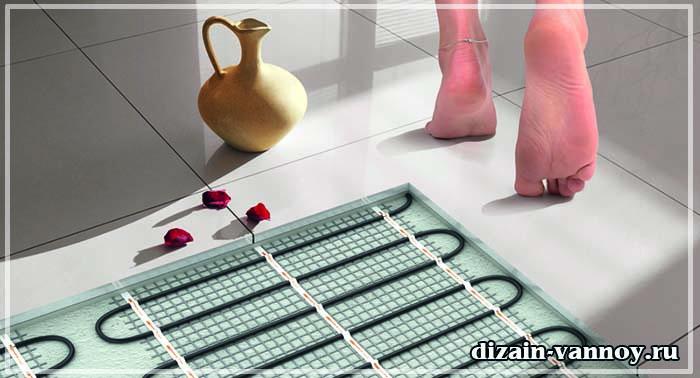теплый пол в ванную