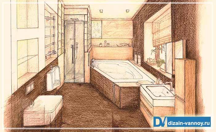 дизайн проекты ванных комнат