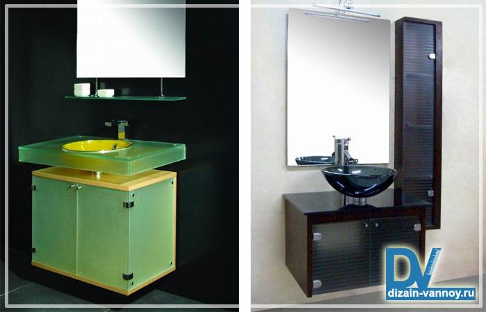 мебель для ванной комнаты стеклянная