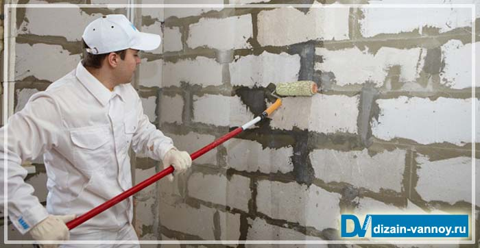 оштукатуривание стен в ванной комнате
