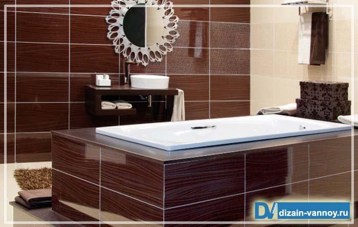 покрытие стен в ванной комнате