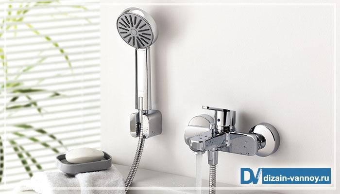 кран для ванной с душем
