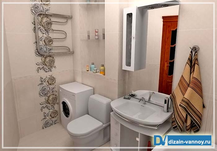 совмещенная ванная с туалетом дизайн