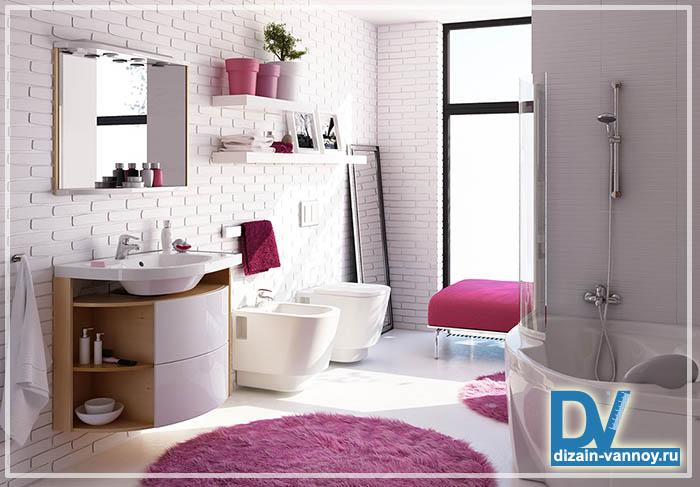 встроенная мебель в ванную комнату
