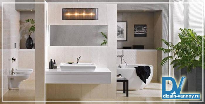 зонирование ванной комнаты светом